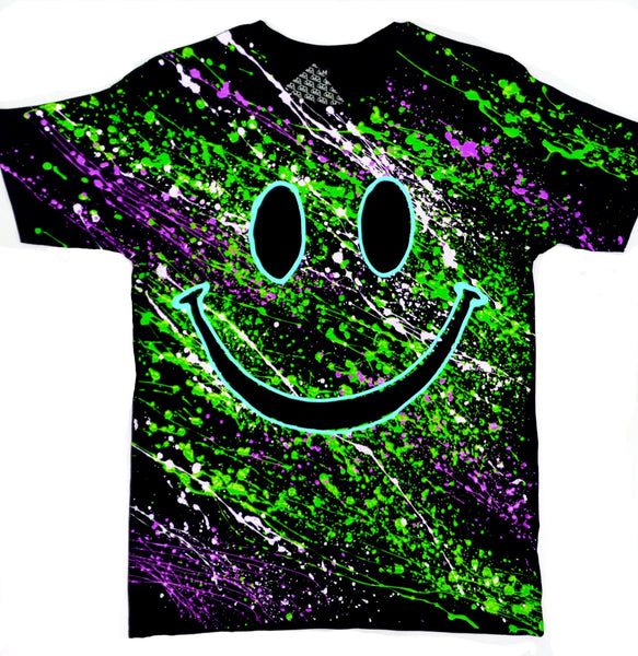 GRIN T-SHIRT BLACK/GREEN/PURPLE