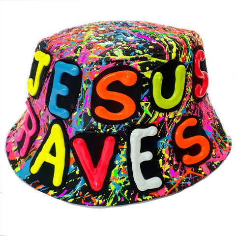 JESUS RAVE HAT BLACK