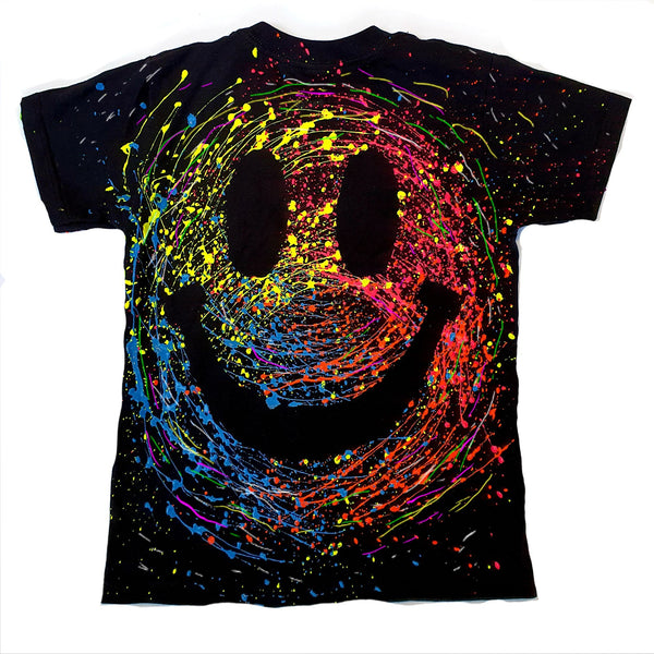 GRIN FACE KIDS T-SHIRT - BLACK