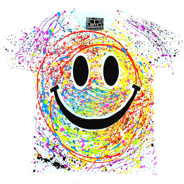 GRIN FACE KIDS T-SHIRT - WHITE