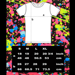 COUCHUK - UV REACTIVE - JUDDER UNISEX T-SHIRT WHITE MULTI - Clubwear - PLUR - Rave clothing