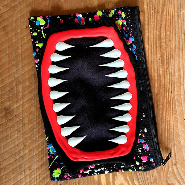 TEETH MASK WITH BAG - PACK OF 2 (SECOND MASK IN MULTI COLOURED SPLASH)