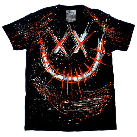 EVIL G T-SHIRT BLACK AND ORANGE