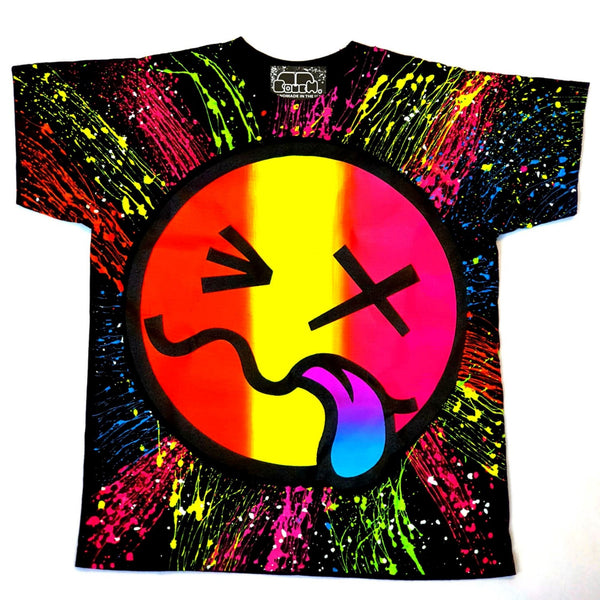 RAINBOW TONGUE KIDS T-SHIRT BLACK