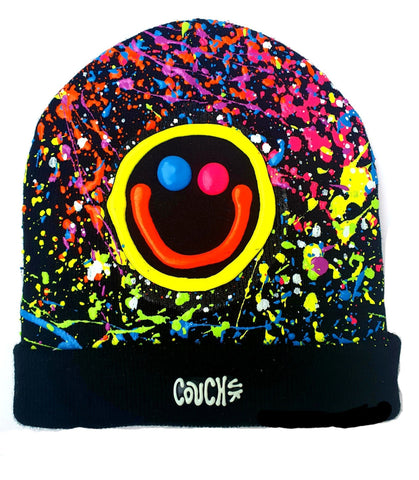 SQUIDGY FACE BEANIE BLACK