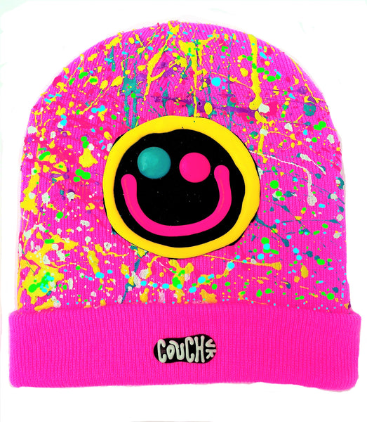 SQUIDGY FACE BEANIE PINK
