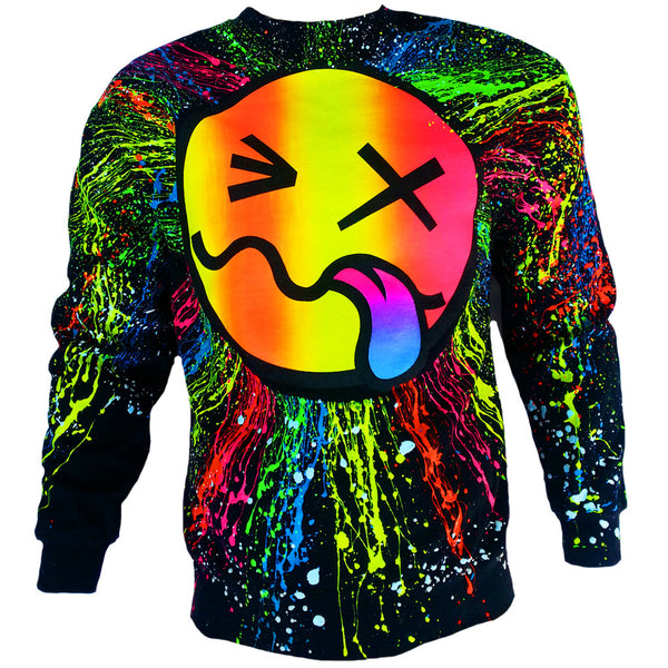COUCHUK - UV REACTIVE - RAINBOW TONGUE SWEATSHIRT UNISEX - Clubwear - PLUR - Rave clothing