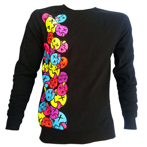 COUCHUK - UV REACTIVE - SIDE TONGUE SWEATSHIRT UNISEX - Clubwear - PLUR - Rave clothing