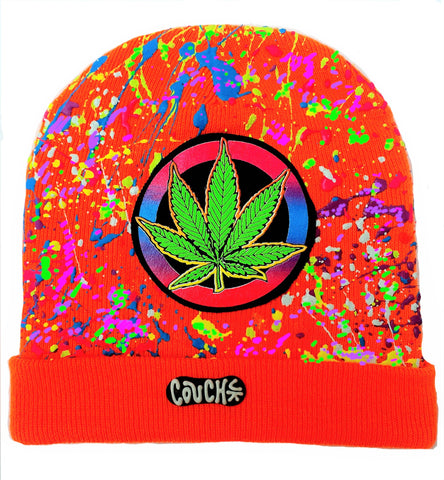 WEED BADGE BEANIE ORANGE