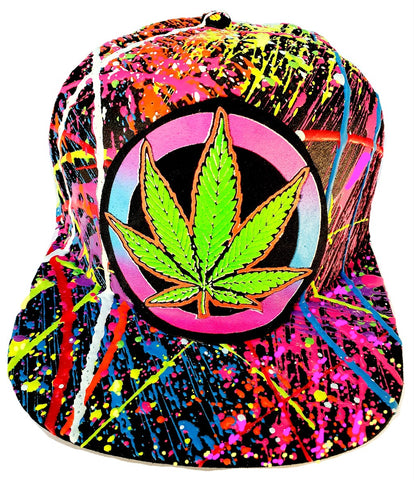 WEED BADGE CAP BLACK