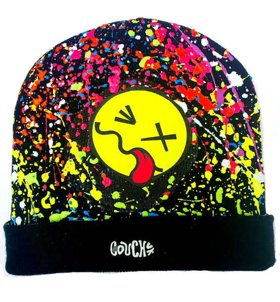 TONGUE BEANIE BLACK