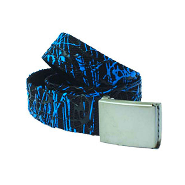 COUCHUK - UV REACTIVE - SCRIBBLE BELT BLACK/BLUE - Clubwear - PLUR - Rave clothing