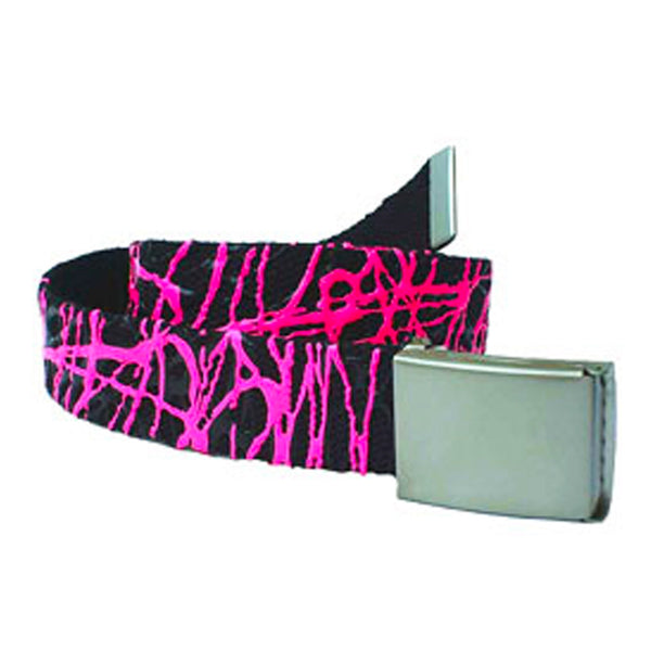 COUCHUK - UV REACTIVE - SCRIBBLE BELT BLACK/PINK - Clubwear - PLUR - Rave clothing