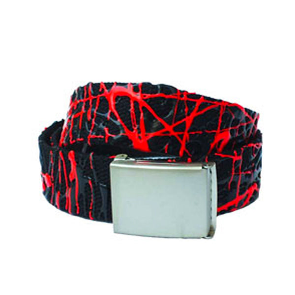 COUCHUK - UV REACTIVE - SCRIBBLE BELT BLACK/RED - Clubwear - PLUR - Rave clothing