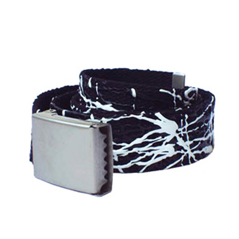 COUCHUK - UV REACTIVE - SCRIBBLE BELT BLACK/WHITE - Clubwear - PLUR - Rave clothing