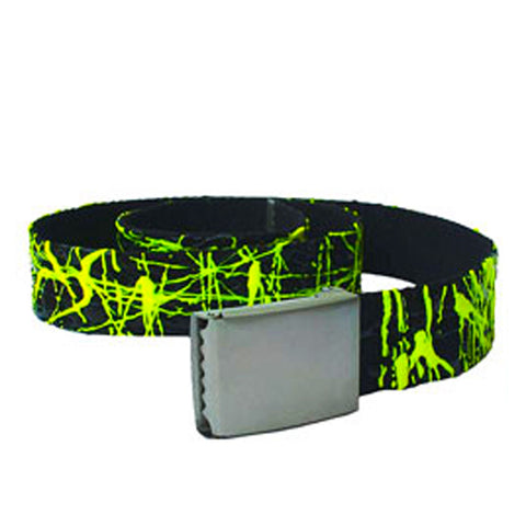 COUCHUK - UV REACTIVE - SCRIBBLE BELT BLACK/YELLOW - Clubwear - PLUR - Rave clothing
