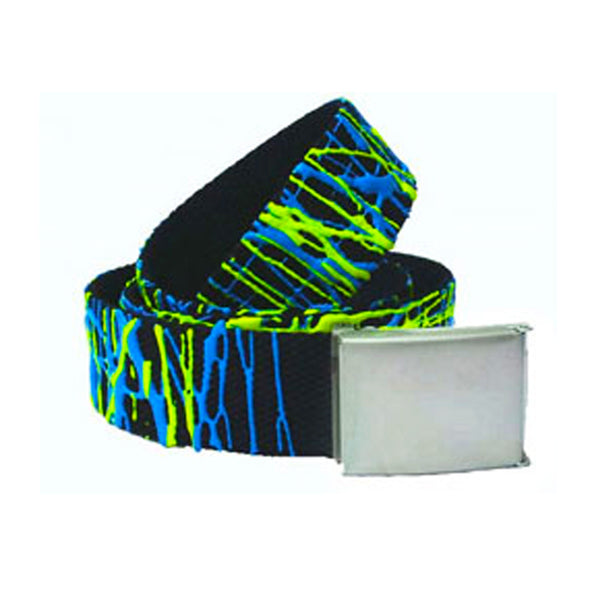 COUCHUK - UV REACTIVE - SCRIBBLE BELT BLUE/YELLOW - Clubwear - PLUR - Rave clothing