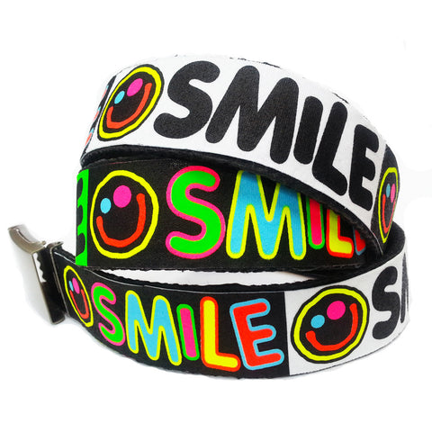 COUCHUK - UV REACTIVE - PRINTED SMILE BELT - Clubwear - PLUR - Rave clothing