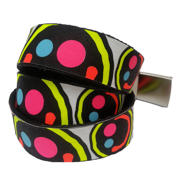 COUCHUK - UV REACTIVE - PRINTED BELT SQUIDGY FACE BELT - Clubwear - PLUR - Rave clothing
