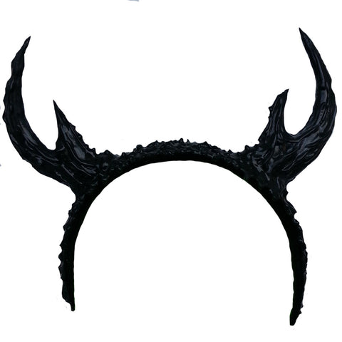 COUCHUK - UV REACTIVE - BLACK ANTLERS HEADBAND - Clubwear - PLUR - Rave clothing