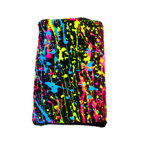 COUCHUK - UV REACTIVE - SPLASH SWEATBAND RAINBOW - Clubwear - PLUR - Rave clothing