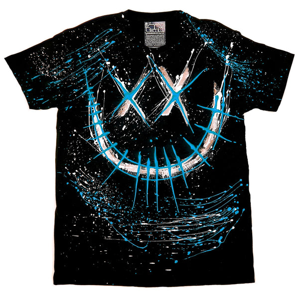 EVIL G T-SHIRT BLACK AND BLUE