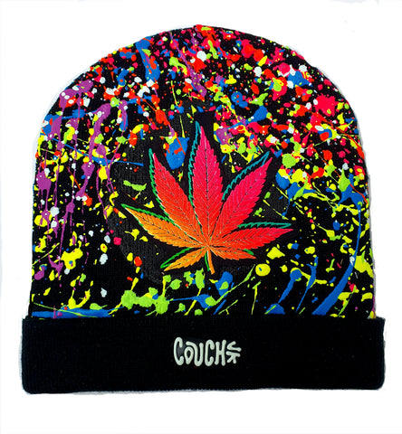DOUBLE WEEDLEAF BEANIE BLACK