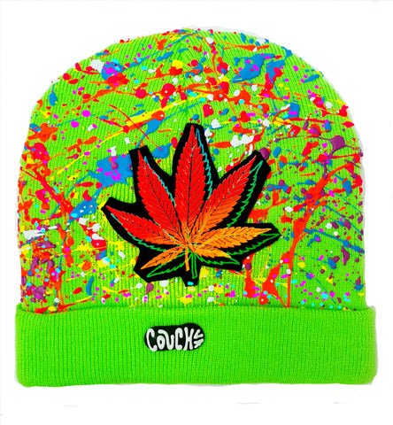 DOUBLE WEEDLEAF BEANIE GREEN