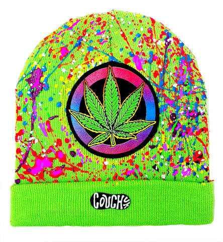 WEED BADGE BEANIE GREEN