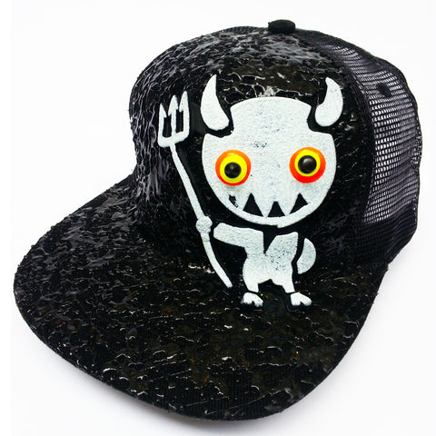 LT DEVIL TRUCKER CAP BLACK