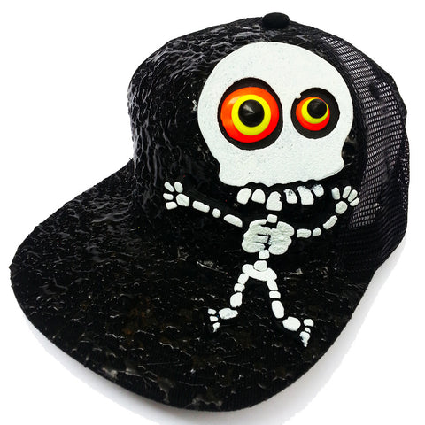 LT SKELETON TRUCKER CAP BLACK