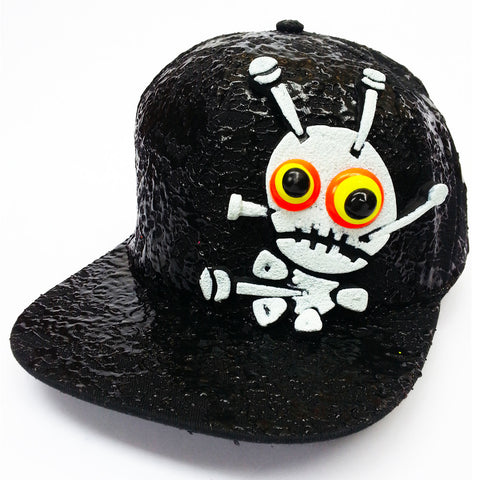 COUCHUK - UV REACTIVE - LT VOODOO DOLL FLATPEAK CAP - Clubwear - PLUR - Rave clothing