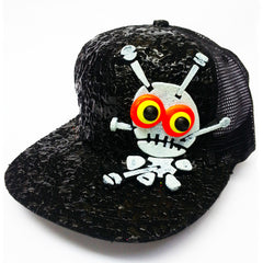 COUCHUK - UV REACTIVE - LT VOODOO TRUCKER CAP BLACK - Clubwear - PLUR - Rave clothing