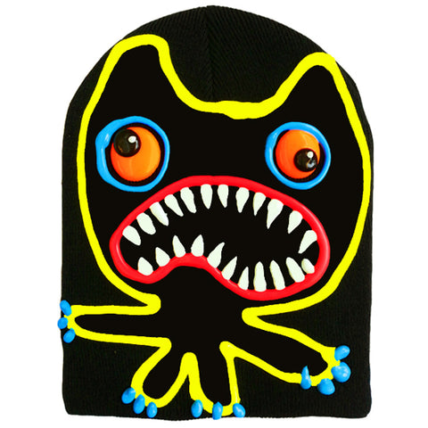 COUCHUK - UV REACTIVE - ART ON BEANIE no.3 - Clubwear - PLUR - Rave clothing