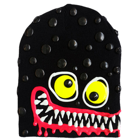 COUCHUK - UV REACTIVE - ART ON BEANIE no.7 - Clubwear - PLUR - Rave clothing