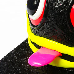 COUCHUK - UV REACTIVE - ART ON CAP BLACK/BLACK TONGUE 2 EYES - Clubwear - PLUR - Rave clothing