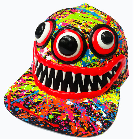 ART ON CAP BLACK/MULTI TEETH