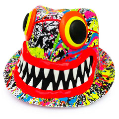 COUCHUK - UV REACTIVE - ART ON TRILBY WHITE RED LIPS TEETH - Clubwear ... b72008214e5