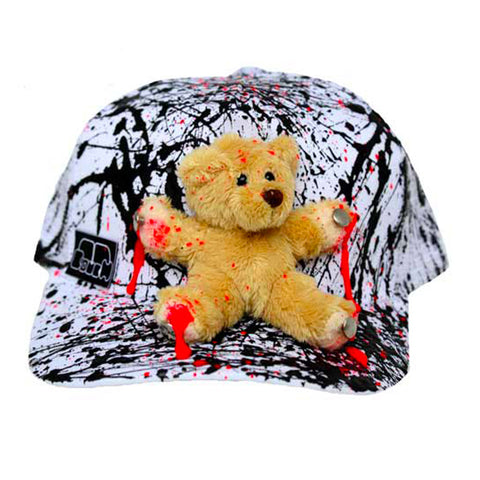COUCHUK - UV REACTIVE - BEAR TRUCKER CAP WHITE - Clubwear - PLUR - Rave clothing