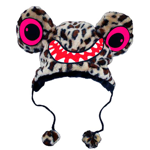 COUCHUK - UV REACTIVE - BEAST HAT CHEETAH PRINT - Clubwear - PLUR - Rave clothing