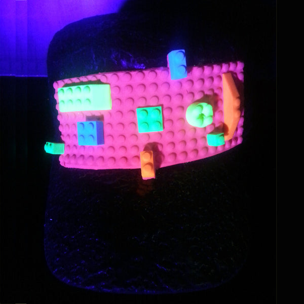 COUCHUK - UV REACTIVE - BLOCK ARMY CAP - Clubwear - PLUR - Rave clothing