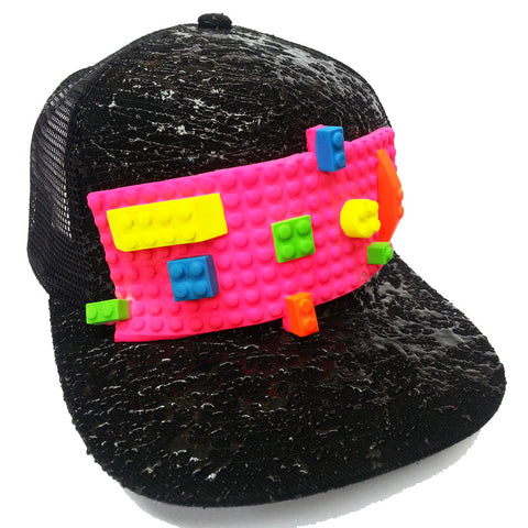 BLOCK TRUCKER CAP BLACK