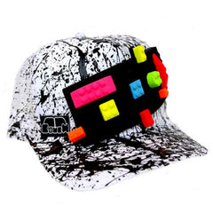 COUCHUK - UV REACTIVE - BLOCK TRUCKER CAP WHITE - Clubwear - PLUR - Rave clothing