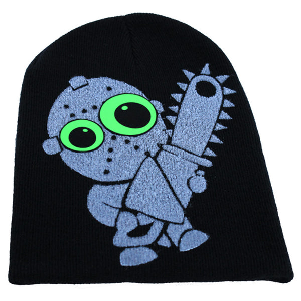 COUCHUK - UV REACTIVE - LITTLE TWISTED CHAINSAW BEANIE - Clubwear - PLUR - Rave clothing