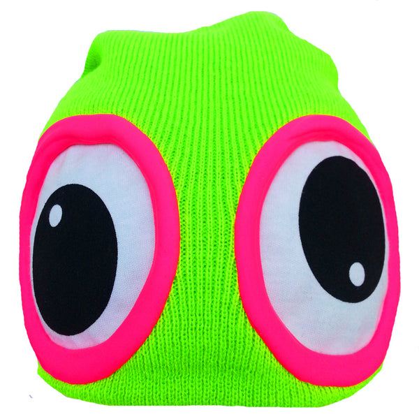 COUCHUK - UV REACTIVE - CLASSIC EYE BEANIE GREEN - Clubwear - PLUR - Rave clothing