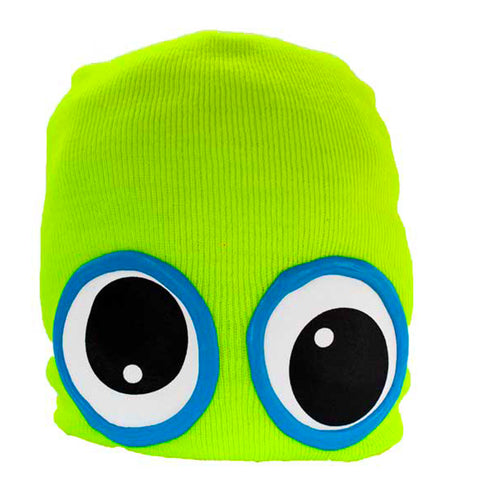 COUCHUK - UV REACTIVE - CLASSIC EYE BEANIE YELLOW - Clubwear - PLUR - Rave clothing