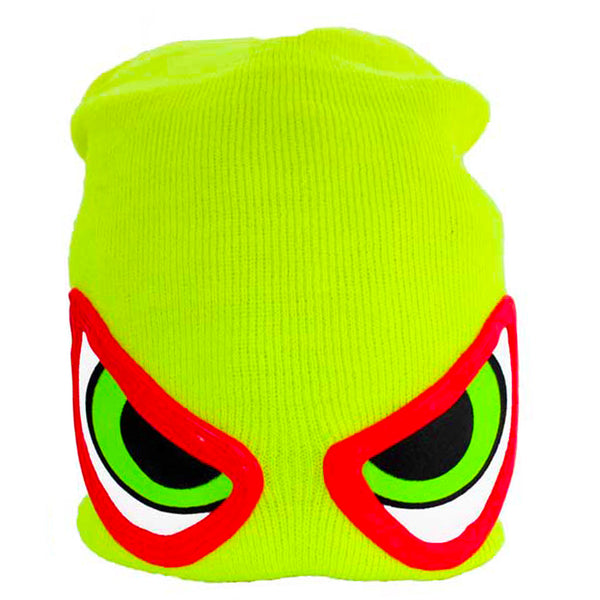 COUCHUK - UV REACTIVE - EVIL EYE BEANIE YELLOW - Clubwear - PLUR - Rave clothing