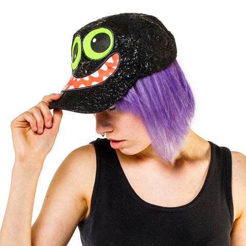 COUCHUK - UV REACTIVE - FACE ARMY CAP - Clubwear - PLUR - Rave clothing