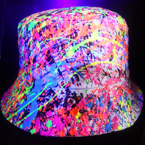 SPLAT RAVE HAT WHITE MULTI