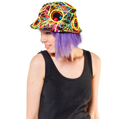 MULTI SQUIDGY FACE RAVE HAT BLACK MULTI
